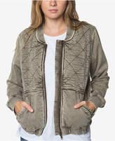 O'Neill Juniors' Cotton Fischer Knit Bomber Jacket