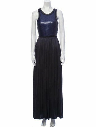 Lanvin Silk Long Dress Blue