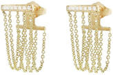 Sydney Evan Bar Chain Earrings - Yellow Gold