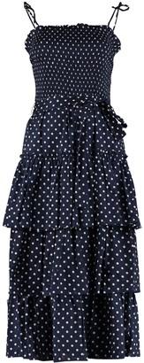Tory Burch Polka Dot Print Long Dress