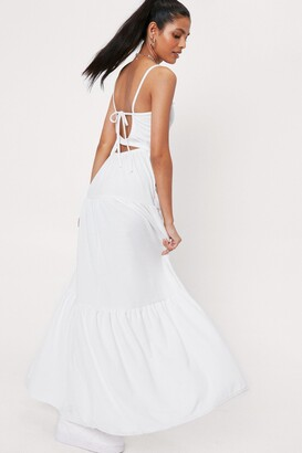 Nasty Gal Womens Tier's to Us Cut-Out Maxi Dress - White