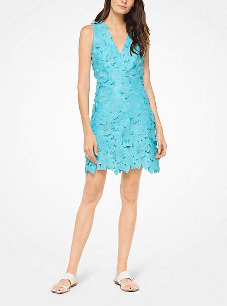 Michael Kors Floral Applique Lace Dress
