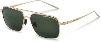 Porsche Design Men's Performance Titanium Square Polarized Sunglasses