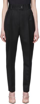 Miu Miu Black Wool High-Waisted Trousers
