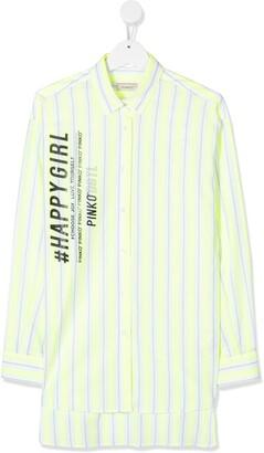 Pinko Kids Striped Long Shirt