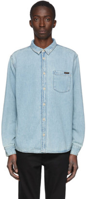 Nudie Jeans Blue Denim Albert Shirt