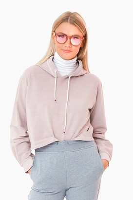 Marine Layer Burnished Lavender Baby Terry Crop Hoodie