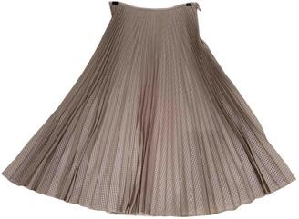 Fendi Beige Silk Skirt for Women