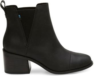 Toms Black Leather Esme Women's Booties