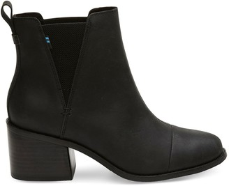 Toms Black Leather Women's Esme Boots