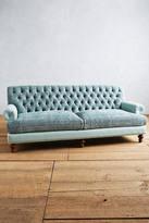 Anthropologie Rug-Woven Fan Pleat Sofa