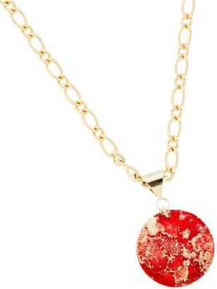 Design Studio Odell Bold Pendant Necklace - Fire