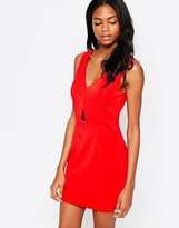 AX Paris Bodycon Dress with Gold Plate Detail