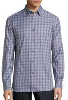 Brioni Large Plaid Long Sleeve Shirt