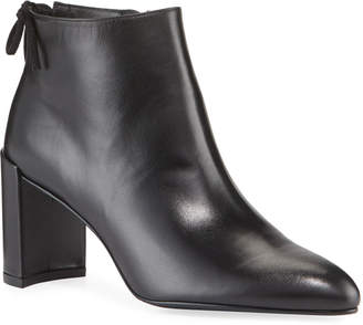 Stuart Weitzman Lofty Leather Pointed-Toe Booties