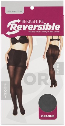 Berkshire Women's Plus Size Reversible Opaque Two Way Control Top Tights