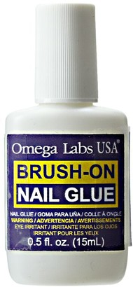 Omega Labs Brush-On Nail Glue