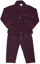 Loretta Caponi Handmade Printed Silk Pajama Set