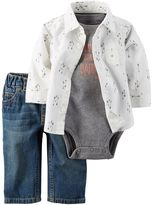 Carter's Baby Boy Arrow Shirt, Bodysuit & Jeans Set