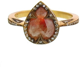 Cathy Waterman Pear Rustic Diamond Ring - 22 Karat