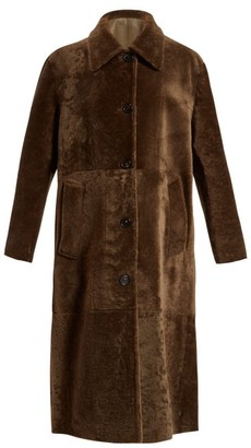 Bottega Veneta Reversible Long Shearling Coat - Womens - Khaki