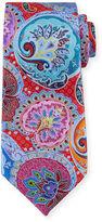 Ermenegildo Zegna Paisley-Medallion Printed Silk Tie