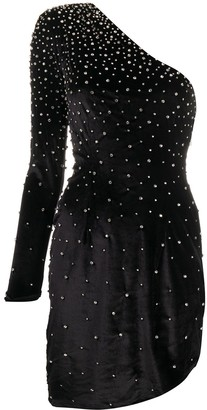 retrofete Crystal-Embellished Velvet Dress
