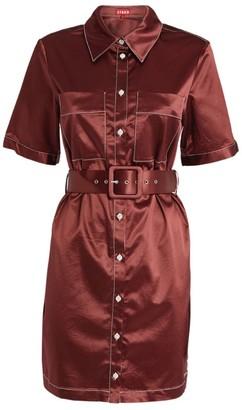 STAUD Bentley Belted Dress