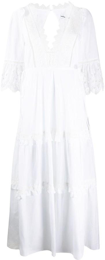 Self-Portrait Voile cotton maxi dress