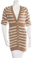 Chanel 2015 Stripe Cashmere Cardigan