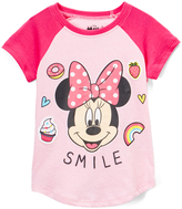Freeze Minnie Mouse Light Pink Heather 'Smile' Raglan Tee - Toddler