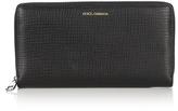 Dolce & Gabbana Zip-around grained-leather wallet