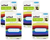 Scunci No-slip Grip Evolution Bright Jelly Ponytailers, 56-Count, Colors may vary