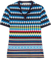Mary Katrantzou Clio Jacquard-knit Top - Blue