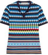 Mary Katrantzou Clio Jacquard-knit Top - Blue