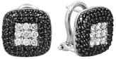 Effy Jewelry Effy Caviar 14K White Gold Black and White Diamond Earrings, .96 TCW