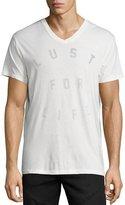 Sol Angeles Lust for Life V-Neck T-Shirt, White