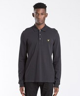 Lyle & Scott Long Sleeve Plain Pique Polo Shirt