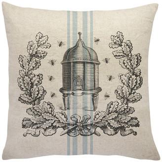 The Watson Shop Bee Hive Striped Linen Throw Pillow