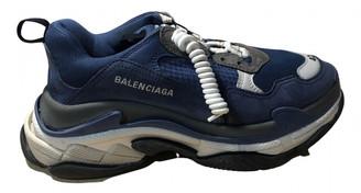 Balenciaga Triple S Blue Cloth Trainers
