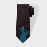 Paul Smith Men's Black 'Dino' Narrow Silk Tie