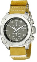 Invicta Men's 19434 Aviator Stainless Steel Watch with Mustard Yellow Leather Band