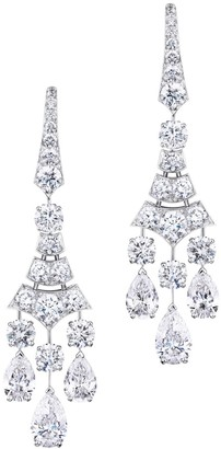 De Beers 18kt white gold Phenomena Frost diamond earrings
