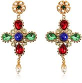 Dolce & Gabbana Cross Swarovski Clip-On Earrings