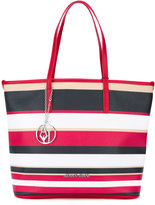 Armani Jeans striped shopper tote - women - PVC - One Size