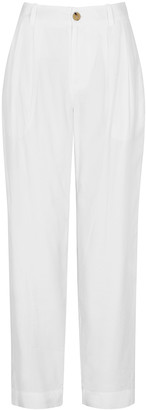 Vince White tapered-leg twill trousers