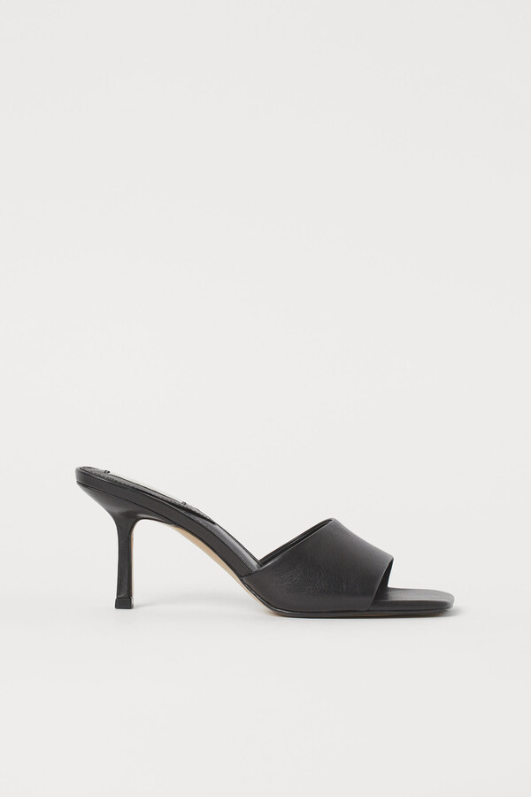 H&M Leather mules