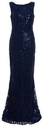 Dorothy Perkins Womens Quiz Blue Sleeveless Maxi Dress, Blue