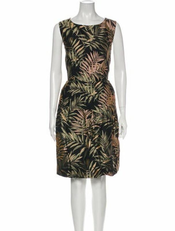 Ted Baker Printed Knee-Length Dress w/ Tags Black