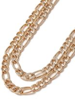 Gold Two Row Chain Necklace*